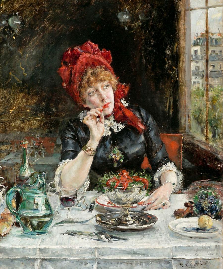 EDUARDO-LEON-GARRIDO---Uma-garota-num-restaurante-de-Paris---Oleo-sobre-painel--46-x-375.jpg