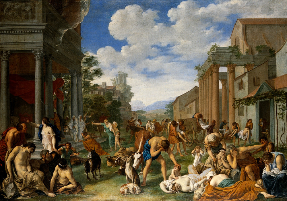 The_plague_of_the_Philistines_at_Ashdod._Oil_painting_by_Pie_Wellcome_V0017189.jpg