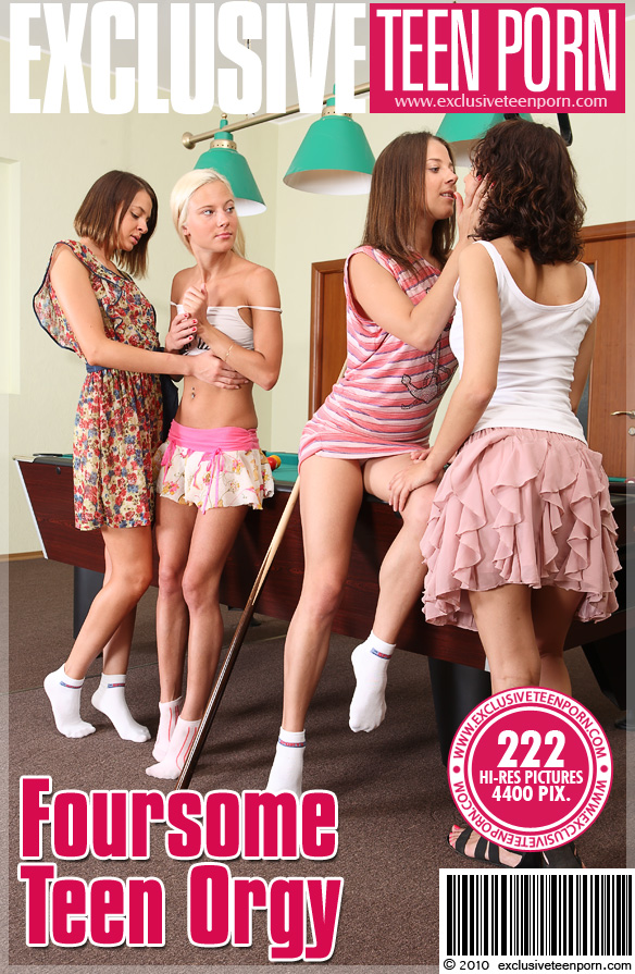 Marianna & Anabell & Suzi & Kristi - Foursome Teen Orgy   (x222)