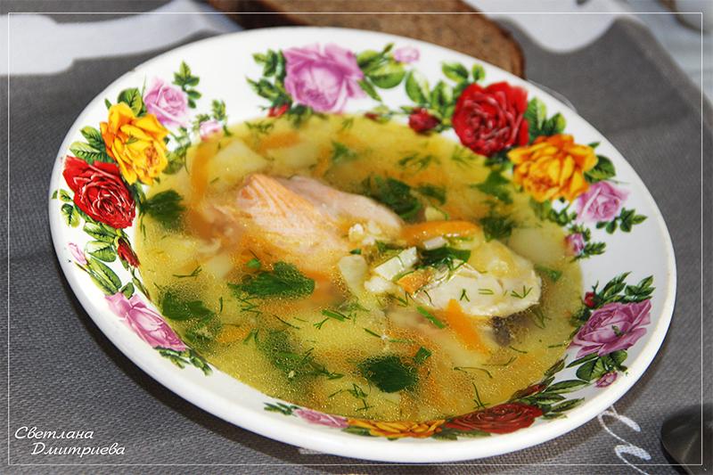 Рыбный красно белый суп