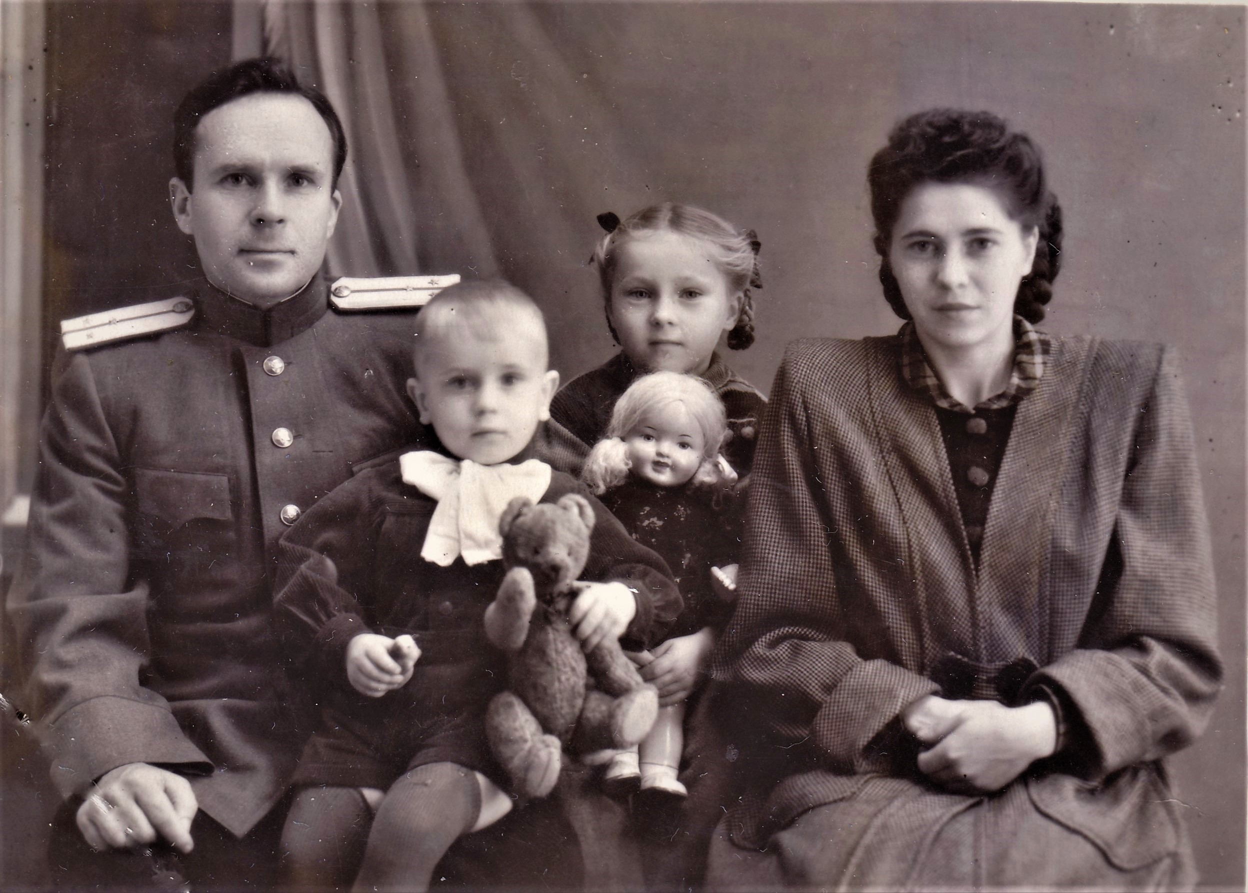 Наша семья. Ленинград, 1953 год