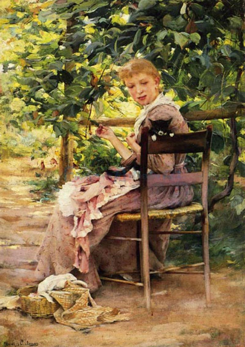 Sewing-in-the-Garden-artist-Francis-Coates-Jones.jpg